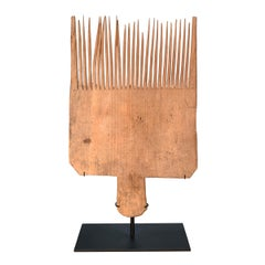 19th Century Flax Carding Comb