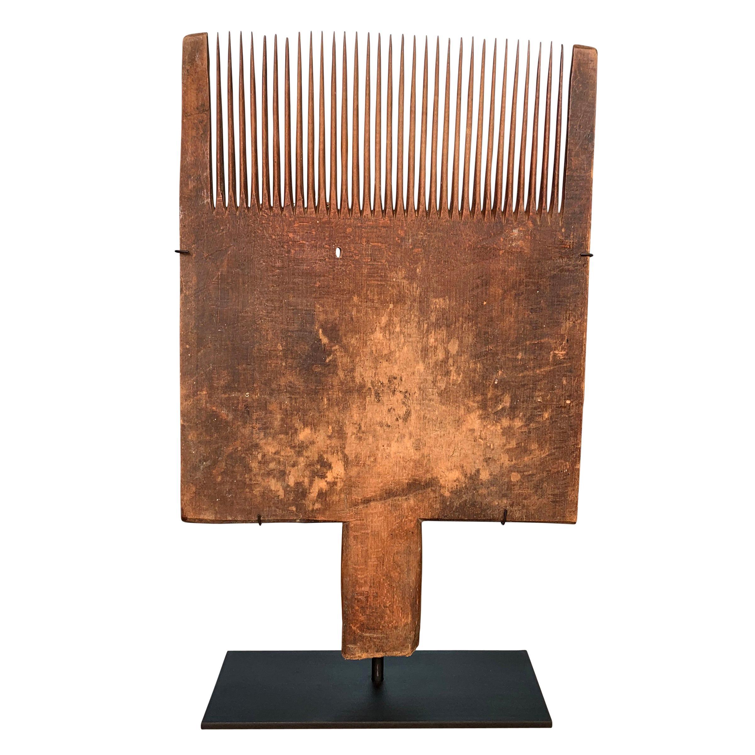 19th Century Flax Carding Comb
