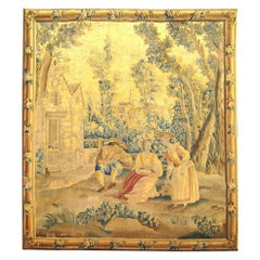 19th Century Flemish Rustic Tapestry