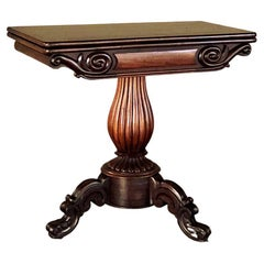 19th Century Flip-Top Mahogany Game Table ~ Console