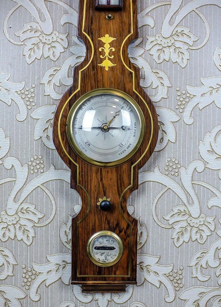 19th Century Float Mercury Barometer In Good Condition For Sale In Opole, PL