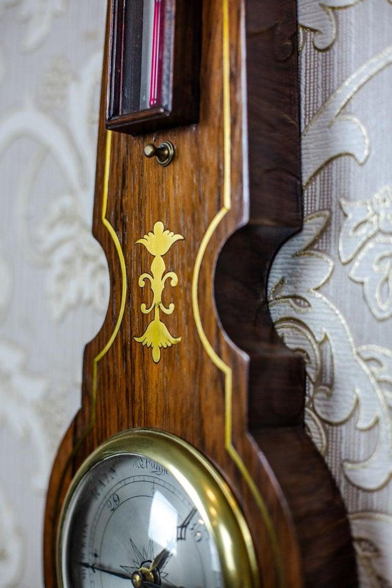 Brass 19th Century Float Mercury Barometer For Sale