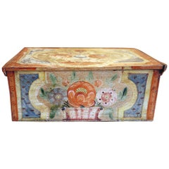 19th Century Floral painted box