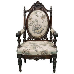 19th Century Flowered Chair