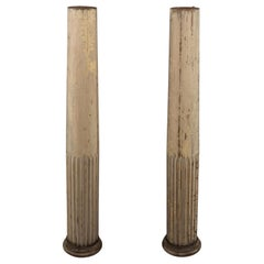 19th Century Fluted Wood Columns