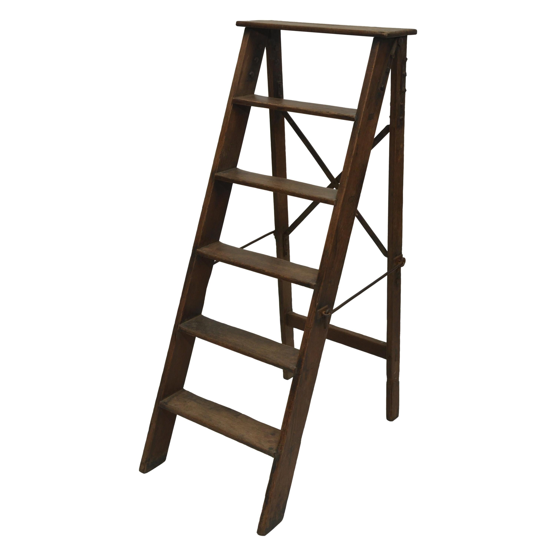 19th Century Folding Step Ladder, England, circa 1880