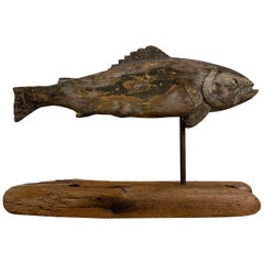 19th Century Folk Art Fish Weather Vane
