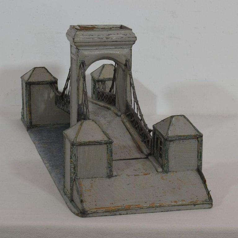 19th Century Folk Art French Model of a Bridge For Sale 5