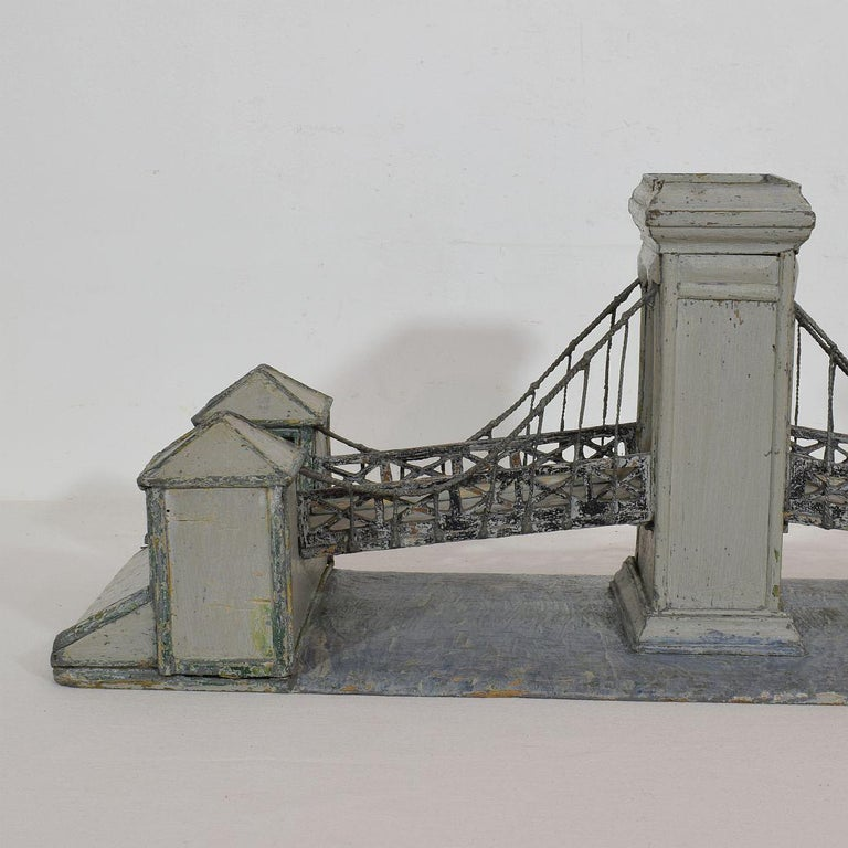19th Century Folk Art French Model of a Bridge For Sale 6