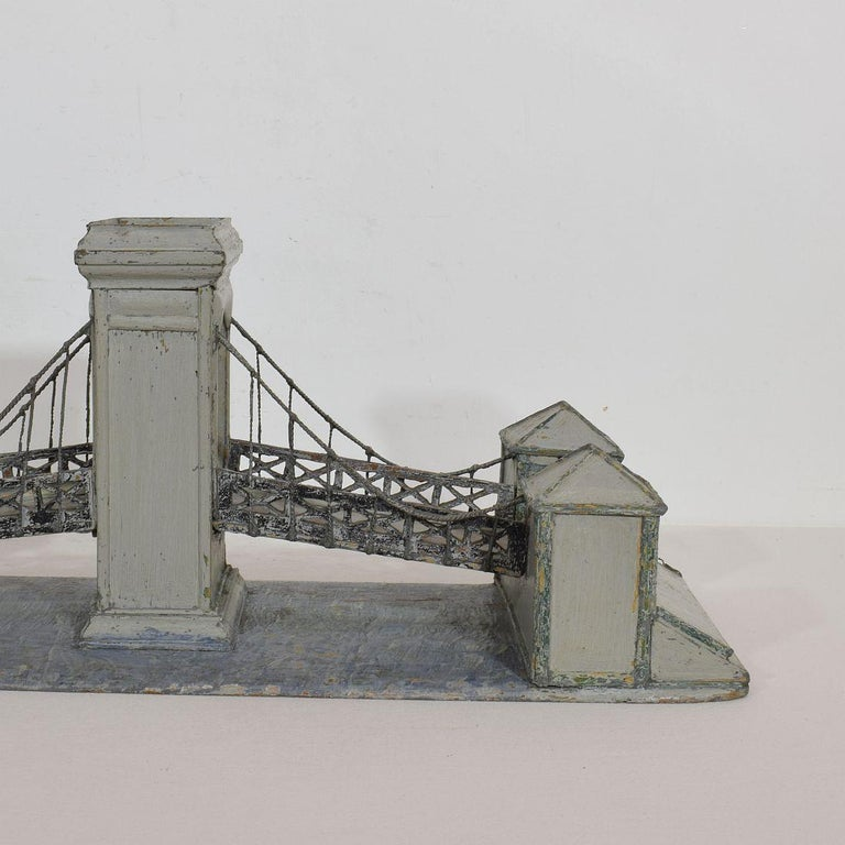 19th Century Folk Art French Model of a Bridge For Sale 7