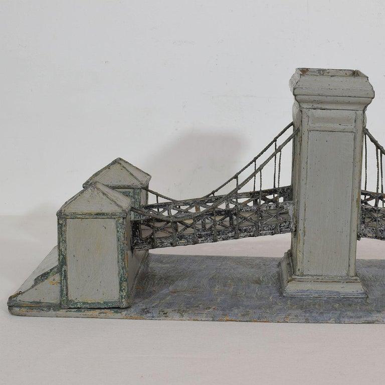 19th Century Folk Art French Model of a Bridge For Sale 8