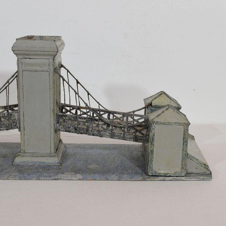 19th Century Folk Art French Model of a Bridge For Sale 9