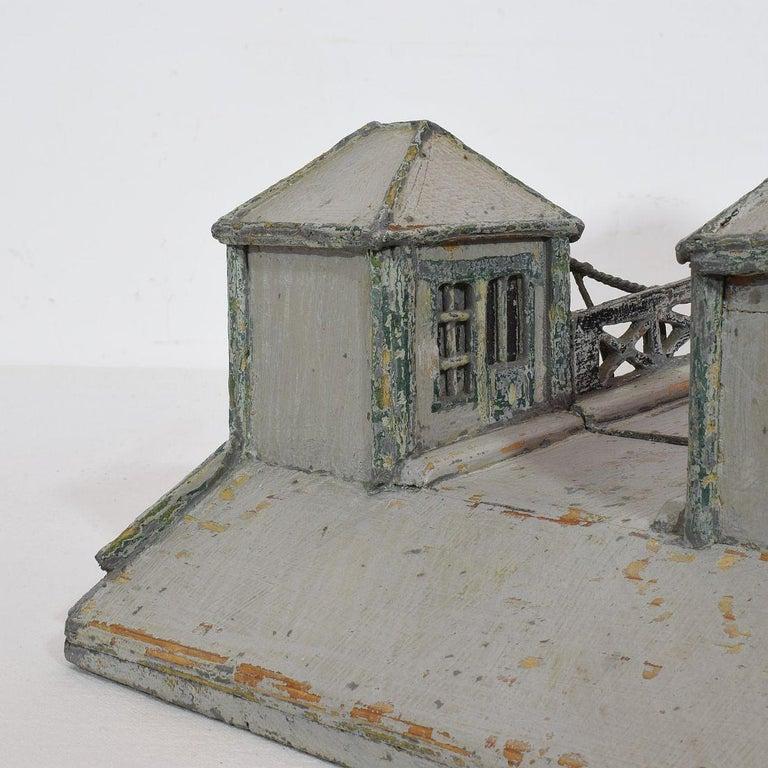 19th Century Folk Art French Model of a Bridge For Sale 10