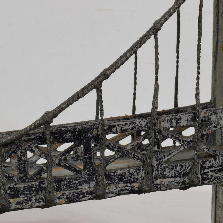 19th Century Folk Art French Model of a Bridge For Sale 12