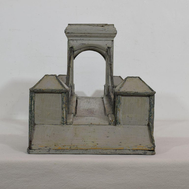 19th Century Folk Art French Model of a Bridge In Good Condition For Sale In Amsterdam, NL