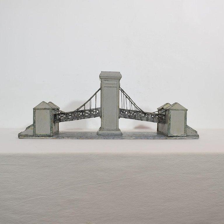 Wood 19th Century Folk Art French Model of a Bridge For Sale