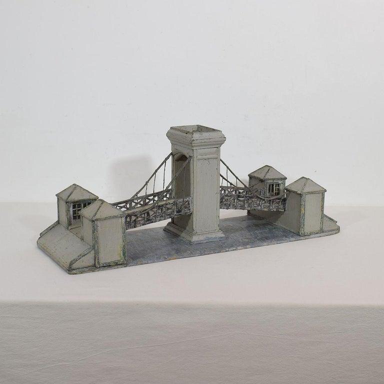19th Century Folk Art French Model of a Bridge For Sale 3