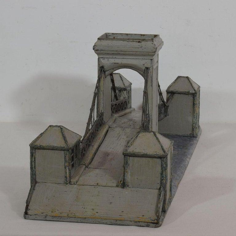 19th Century Folk Art French Model of a Bridge For Sale 4