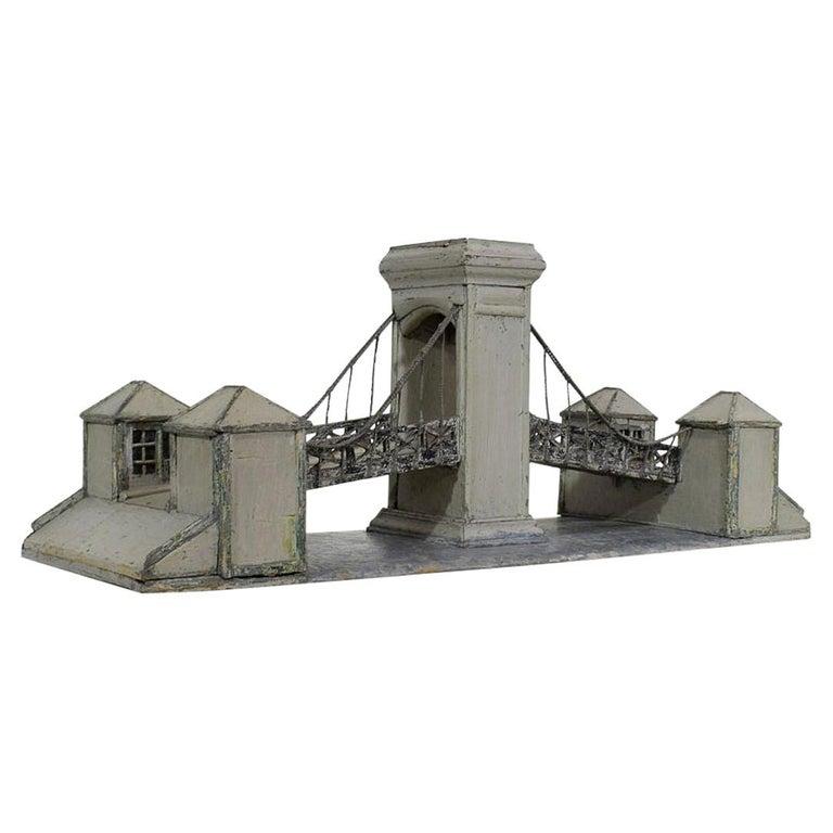 19th Century Folk Art French Model of a Bridge For Sale