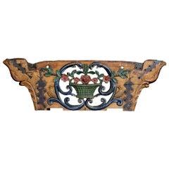 19th Century Folk Art Hand Carved Wagon Panel