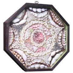 19th Century Folk Art Maritime Sailor's Shell Valentine Souvenir Love Token