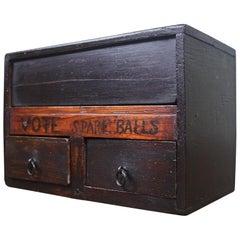 19th Century Folk Art Masonic Fraternities Sororities Voting Ballot Box & Balls