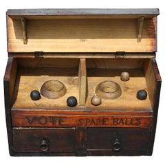 19th Century Folk Art Masonic Fraternities Sororities Voting Ballot Box & Balls