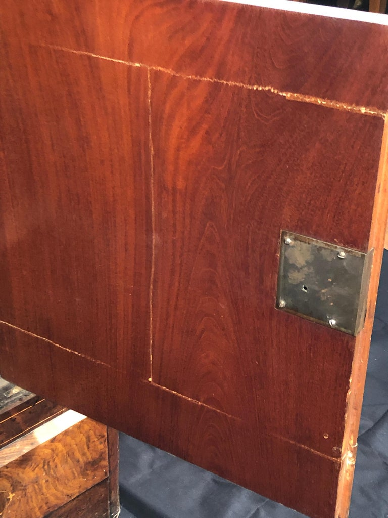 19th Century Charles X Mahogany France Secretaire Marble Top att.L.E. Lemarchand For Sale 6