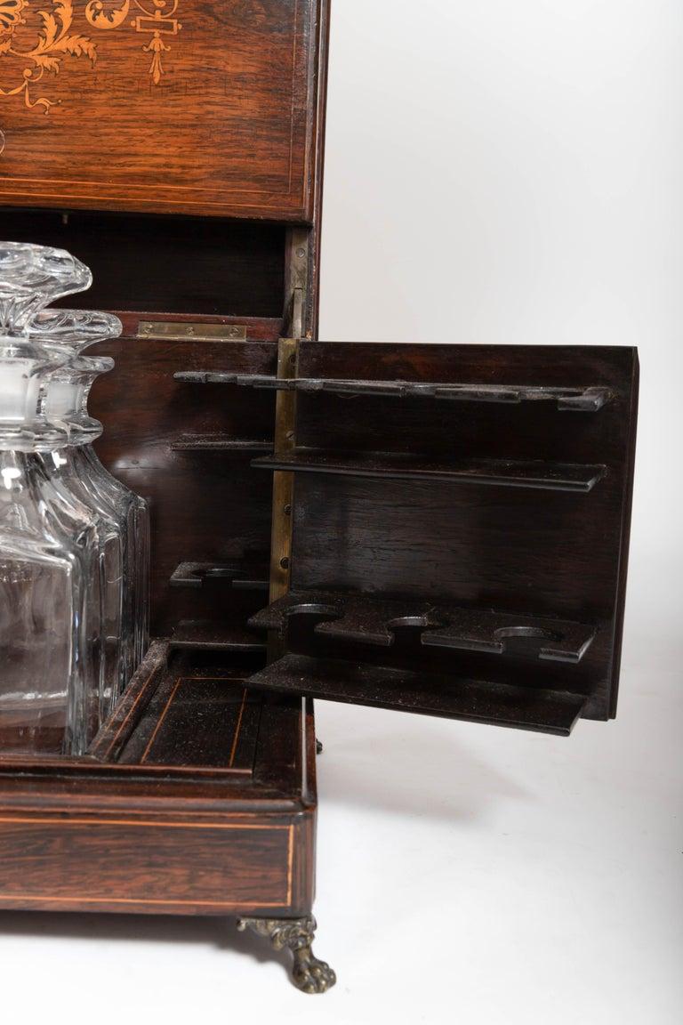 19th Century Four Decanter Liqueurs Set For Sale 4