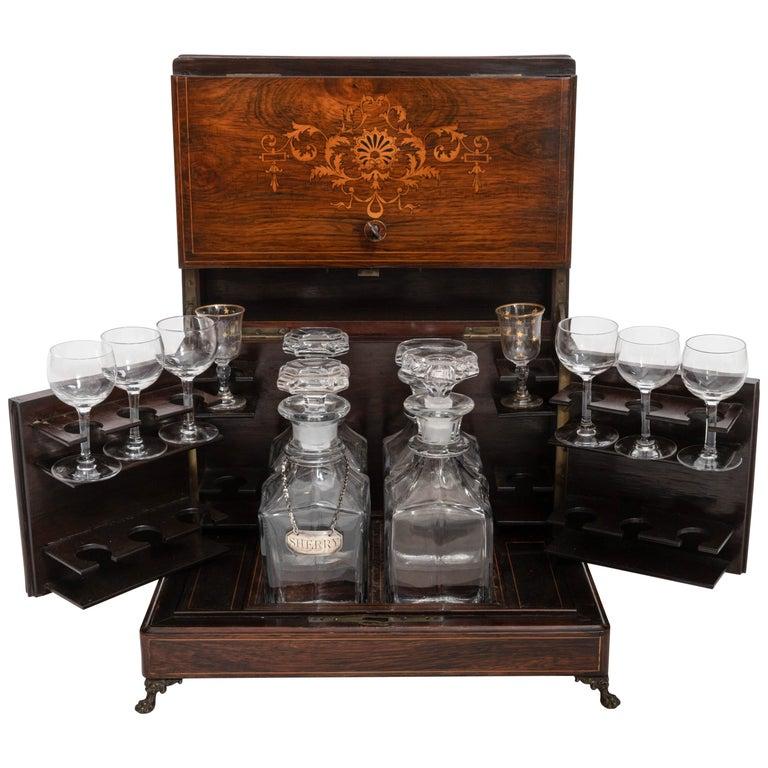 19th Century Four Decanter Liqueurs Set For Sale