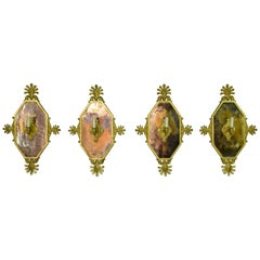 19th Century, Four Empire Style Giltwood Wall Applique