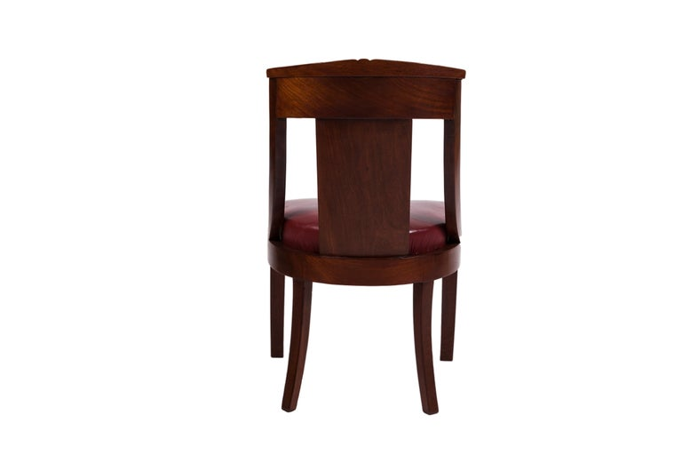 19th Century Four French Fruitwood Gondola Chairs In Good Condition For Sale In Tricase, Italia