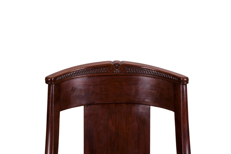 19th Century Four French Fruitwood Gondola Chairs For Sale 2