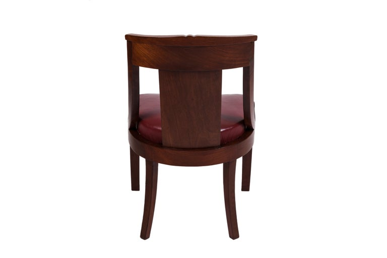 19th Century Four French Fruitwood Gondola Chairs For Sale 3