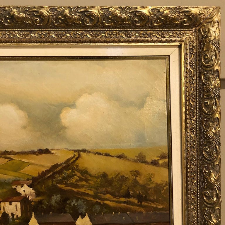 Late 19th Century 19th Century Framed Oil Painting on Canvas by Alfred Bastin For Sale