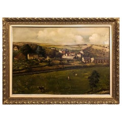19th Century Framed Oil Painting on Canvas by Alfred Bastin
