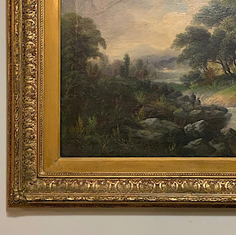 19th Century Framed Oil Painting on Canvas by H. Brooks For Sale 4