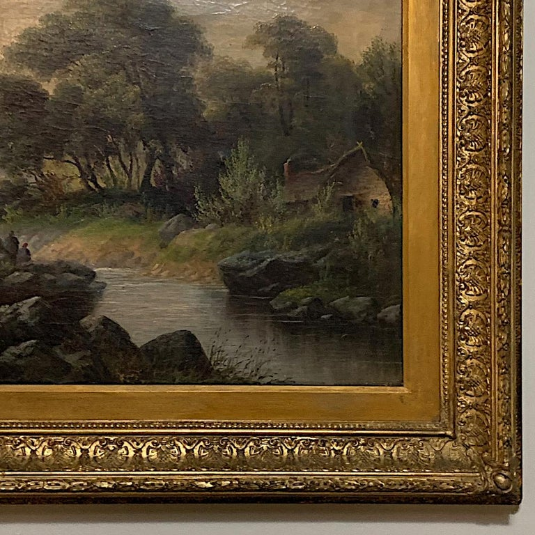 19th Century Framed Oil Painting on Canvas by H. Brooks For Sale 5