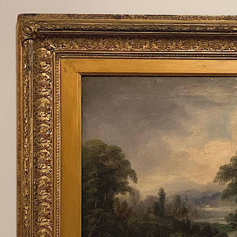 19th Century Framed Oil Painting on Canvas by H. Brooks For Sale 1