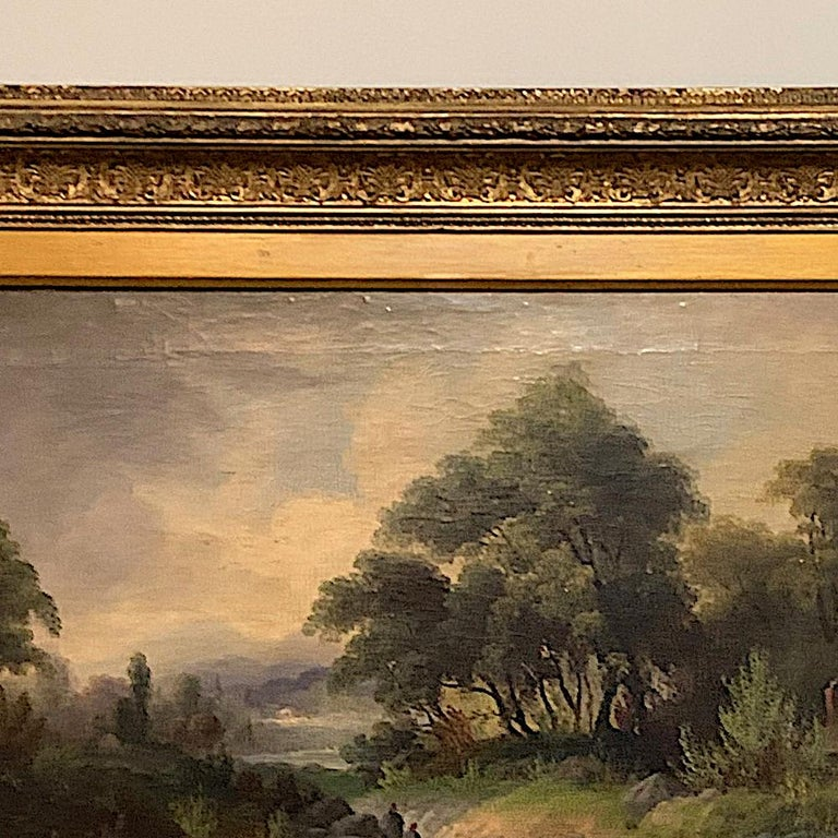 19th Century Framed Oil Painting on Canvas by H. Brooks For Sale 2