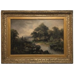 19th Century Framed Oil Painting on Canvas by H. Brooks
