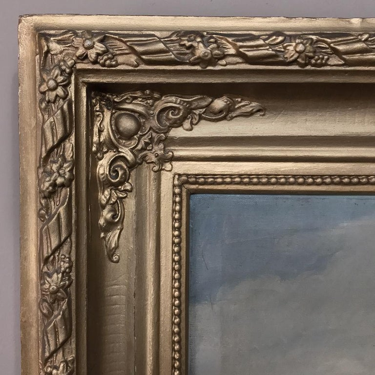 19th Century Framed Hand Painted Oil Painting, Signed M.Sander and Dated 1880 For Sale 1