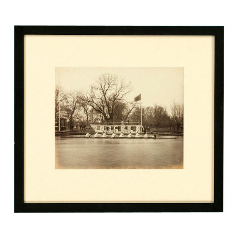 19th Century Framed Print of Rowers