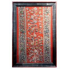 19th Century Framed Raised Beadwork Panel Textile