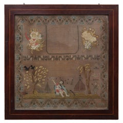 19th Century Framed Sampler