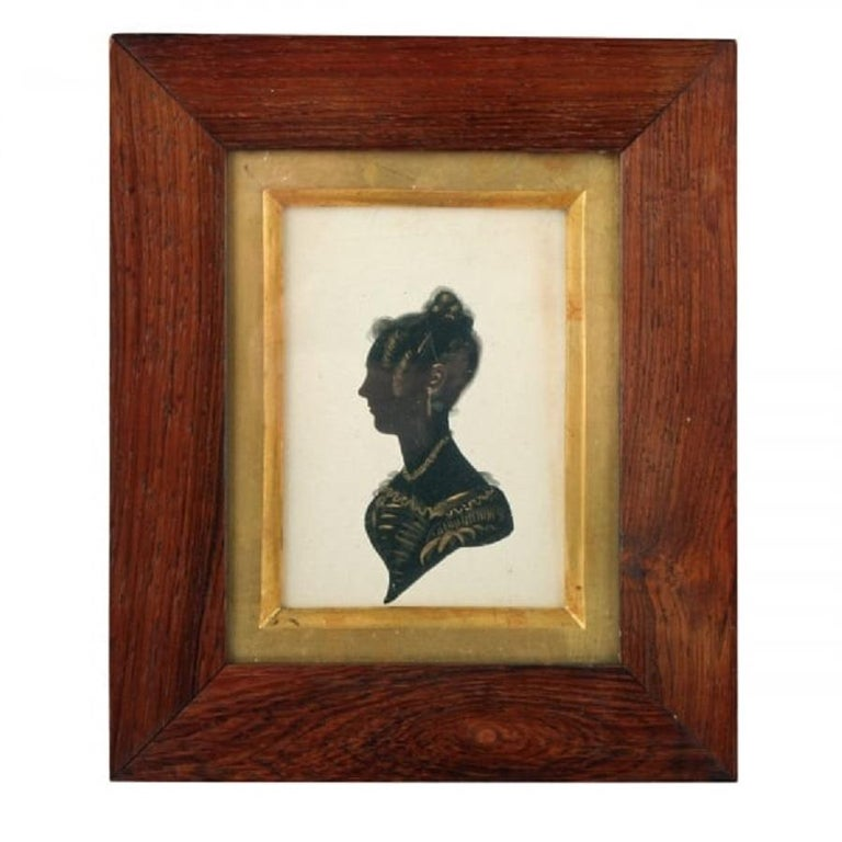 A middle of the 19th century early Victorian silhouette.