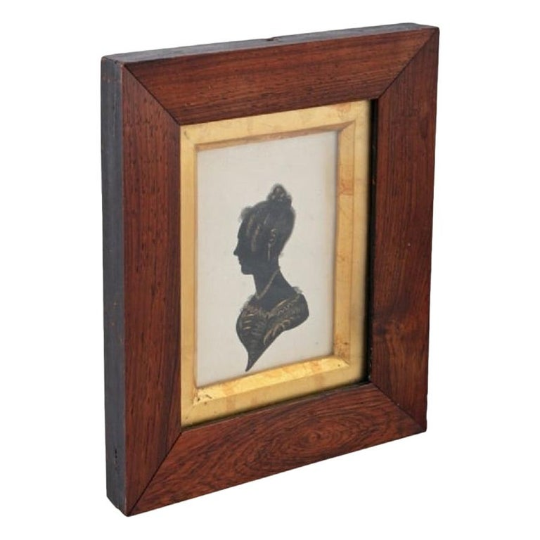 19th Century Framed Silhouette For Sale