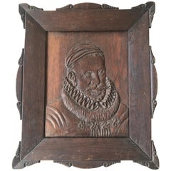 19th Century Framed Wall Sculpture / Portrait of William I. or Willem Van Oranje