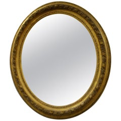 19th Century France Gilded Louis XV Style Oval Mirror