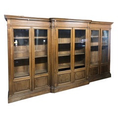 19th Century France Walnut Cabinet Vetrine, 1880s